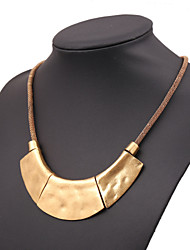cheap -Women's Statement Necklace Ladies European Rose Gold Black Gold Silver Necklace Jewelry For Party