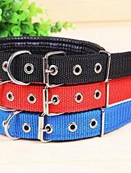 cheap -Cat Dog Collar Adjustable / Retractable Cosplay Nylon Black Red Blue