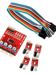 cheap -4-Way Infrared Tracing Transmission Line Modules Car Robot Sensors for Arduino