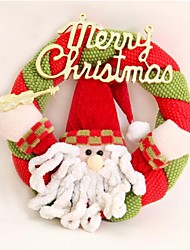 cheap -Christmas Santa Snowman Door hanging,Christmas Decorating Wreath
