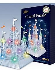 cheap -Flash Music Castle 3D DIY Crystal Assembling Building Blocks Game Toy for Kids(105 PCS)