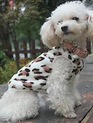 cheap -Cat Dog Sweatshirt Pajamas Fleece Coat Winter Dog Clothes Black Costume Polar Fleece Leopard Casual / Daily XS S M L XL