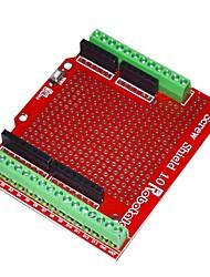 abordables -robotale vis de proto bouclier assemblé pour Arduino - rouge