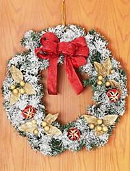cheap -Christmas Wreath Rattan with Snowflake Door hanging,Christmas Decorating Wreath(Random Color)