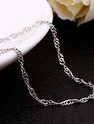cheap -Dookie Chain Party Sterling Silver Platinum Plated Silver White Silver Necklace Jewelry For