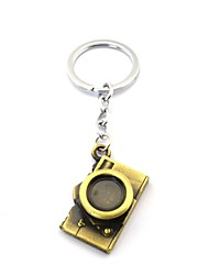 cheap -creative camera shaped pendant keychain copper silver toys