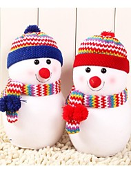 cheap -Small Size Exquisite Snowman With Knitted Hat Doll Pillow Christmas Gift(1 pc)