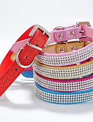 cheap -New Material Glossy Rhinestone Collar for Dogs and Pets(assorted colours ,size)