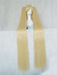 cheap -Cosplay Wigs Vocaloid Hatsune Miku Blonde Anime / Video Games Cosplay Wigs 48 inch Heat Resistant Fiber Women's Halloween Wigs