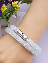 cheap -Women's Wrap Bracelet Leather Bracelet Unique Design Fashion Leather Bracelet Jewelry White / Yellow For Christmas Gifts Party Daily Casual Sports / Lace