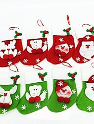 Недорогие -15cmchristmas носки для рождественских партия украшения 6шт (случайный цвет)