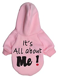 cheap -Cat Dog Hoodie Puppy Clothes Letter & Number Winter Dog Clothes Puppy Clothes Dog Outfits White Blue Pink Costume for Girl and Boy Dog Terylene XS S M L