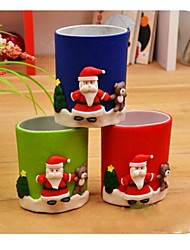 cheap -Christmas Soft Ceramics Pen Container Pen Holder Christmas Gift