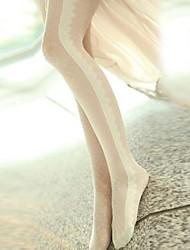 cheap -Women's Velvet Thin Pantyhose - Jacquard One-Size