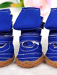 cheap -Dog Boots / Shoes Winter Dog Clothes Blue Pink Costume Cosplay XXS XS S M L XL