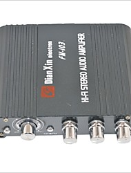 cheap -FM-103 Car Stereo Audio Amplifier with FM Function-Black