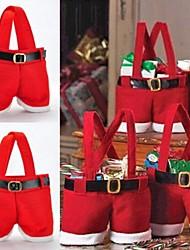 cheap -1Set 22*15CM Santa Pants Candy Bags