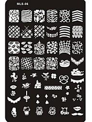 cheap -lovely nail art stamping image plate nail art template nail stencil no 6