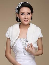 cheap -Short Sleeve Shrugs Faux Fur Wedding / Party Evening Wedding  Wraps / Fur Wraps With
