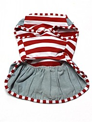 cheap -Dog Dress Dog Clothes Cotton Costume For Spring &  Fall