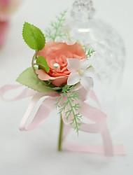 abordables -Fleurs de mariage Boutonnières Mariage / Fête / Soirée Soie / Coton 9cm
