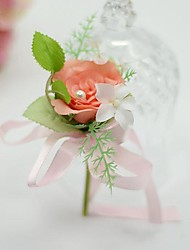 "cheap -Wedding Flowers Boutonnieres Wedding / Party / Evening Silk / Cotton 3.54""(Approx.9cm)"