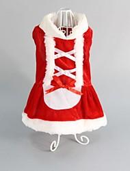 cheap -Dog Dress Winter Dog Clothes Christmas Costume Cosplay XXS XS M