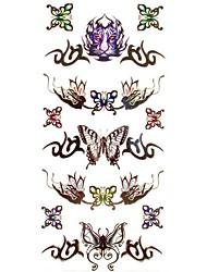 cheap -1pc Rose Butterfly Tiger Totem Bracelet Waterproof Tattoo Pattern Temporary Tattoos Sticker for Body Art(18.5cm*8.5cm)