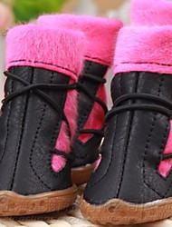 cheap -Dog Boots / Shoes Winter Dog Clothes Black Brown Pink Costume Cosplay XXS XS S M L XL