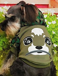 cheap -Coats / Hoodies for Dogs / Cats Green / Blue Winter Wedding / Cosplay XS / S / M / L Cotton
