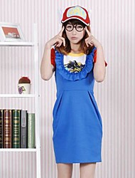 cheap -Inspired by Cosplay Cosplay Anime Cosplay Costumes Japanese Cosplay Suits Short Sleeve Dress Socks Glasses For Women's / T-shirt / Cap / T-shirt / Cap