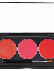 abordables -3 couleurs Gel Brillant à Lèvres Humide / Lueur Gloss coloré / Humidité Maquillage Cosmétique Accessoires de Toilettage
