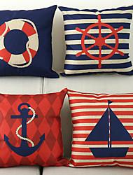 cheap -4 pcs Cotton / Linen Nautical Modern Contemporary
