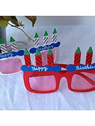 Недорогие -свечи формы очки для партии / вентиляторов (случайный цвет)