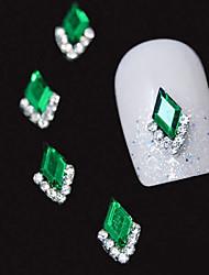 cheap -10pcs green marquise 3d rhinestone diy alloy accessories nail art decoration