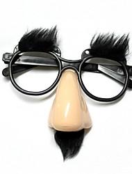 cheap -Funny Elder's Glasses Nose / Brow - Beige +Black