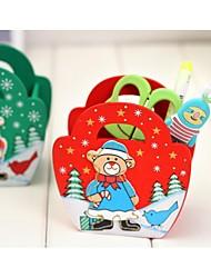 Недорогие -Рождество деревянный контейнер перо рождественский подарок (случайный) (1 шт)