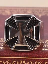 Недорогие -мужская Европа крест личность цветок титана стальное кольцо