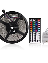 cheap -ZDM 5M 300 x 2835 8mm RGB LED Strips Light Flexible and IR 44Key Remote Control   Linkable  Self-adhesive  Color-Changing