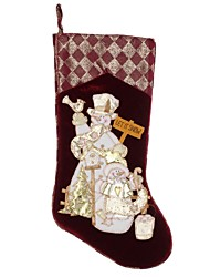 Недорогие -Новогодние украшения пусть это показать Pleuche большие носки