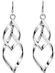 cheap -Women's Drop Earrings Hanging Earrings Twisted Ladies Elegant everyday Sterling Silver Earrings Jewelry Silver For Wedding Party Daily Casual