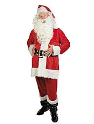 cheap -Red Santa Claus Suit Adult Men's Christmas Costume