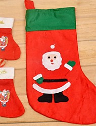 Недорогие -мультфильм Рождество Санта-Клаус носок (случайные фото)