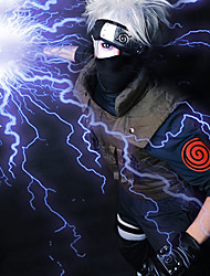 cheap -Naruto Hatake Kakashi Cosplay Wigs Men's 14 inch Heat Resistant Fiber Gray Anime