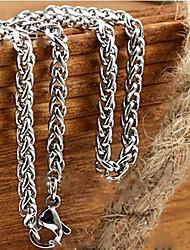 Недорогие -Ожерелья-цепочки Цепь Foxtail Dookie Chain Сеть моряков Дракон Уникальный дизайн Мода Титановая сталь Ожерелье Бижутерия 1шт Назначение Новогодние подарки Свадьба Для вечеринок Подарок Повседневные