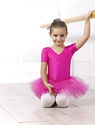 cheap -Ballet Dresses / Dresses&Skirts / Tutus Women's Spandex / Tulle Short Sleeves / Performance