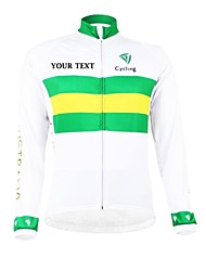 cheap -Customized Cycling Clothing Men's Women's Long Sleeve Cycling Jersey Australia National Flag Bike Jersey Thermal / Warm Fleece Lining Breathable Waterproof Zipper Reflective Strips Winter Polyester