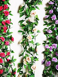 "cheap -95""L 2Pcs Nine Beautiful Flowers 1 Branch in Roses Bine(Assorted Colors) Wedding Flower House Decor"