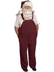 cheap -Rust Red Overalls Adult Men's Christmas Costume