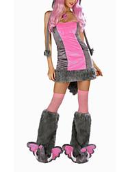 Недорогие -Милый розовый меховой слон Хеллоуин костюм (3 шт)